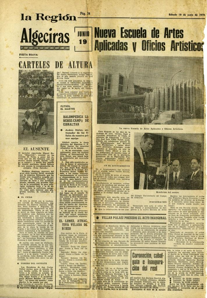 Publicación de la noticia en el Diario la Región